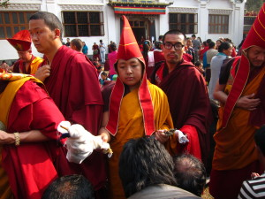 Tulku Urgyen Yangsi during the final day of the drupchen.