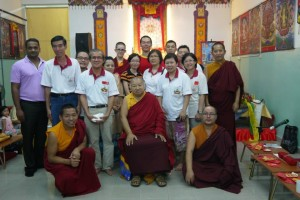 Rinpoche with members of the center in Kulim