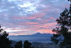 sunrise over Pharping