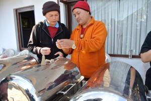 Lama Sherab Dorje teaching the intricacies of  making tormas.