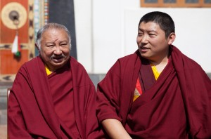 A recent photo of Kyabje Tsikey Chokling Rinpoche and Kyabgon Phakchok Rinpoche, father and son.